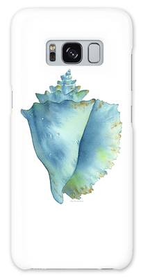 Blue Conch Shell Galaxy Case