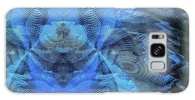 Galaxy Case featuring the digital art Blue Kitty by Visual Artist Frank Bonilla