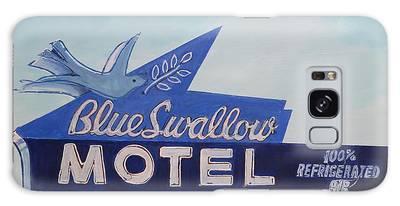 Blue Swallow Galaxy Case