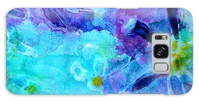 Blue Water Flower Galaxy Case