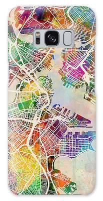 Boston Massachusetts Street Map Galaxy Case