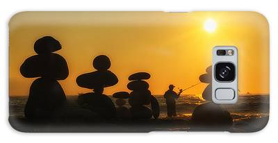 Boulders By The Sea Galaxy Case