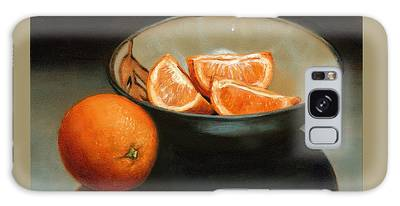Bowl Of Oranges Galaxy Case