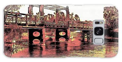 Bridge Over Murray River Galaxy Case