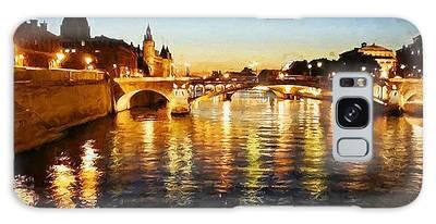 Bridge Over The Seine Galaxy Case