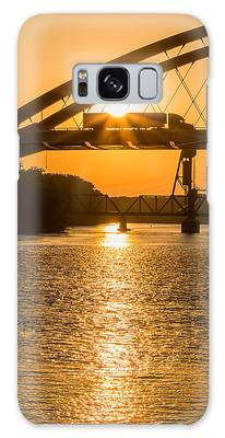 Galaxy Case featuring the photograph Bridge Sunrise #2 by Patti Deters