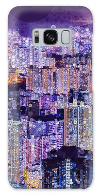 Bright Lights, Big City Galaxy Case by Susan Maxwell Schmidt