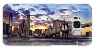 Brooklyn Bridge Manhattan Sunset Galaxy Case