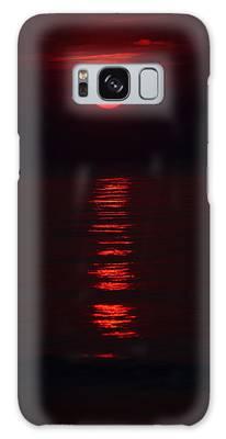 Burnt Orange Sunrise Galaxy Case