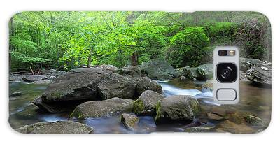 Galaxy Case featuring the photograph Catawba Stream And Rocks Panorama by Ranjay Mitra