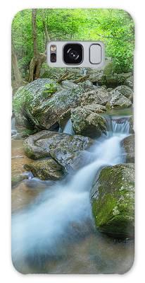 Catawba Stream Cascades At High Shoals Falls In North Carolina Galaxy Case by Ranjay Mitra
