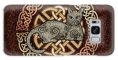 Celtic Cat Galaxy Case