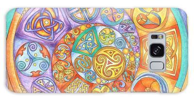 Celtic Crescents Rainbow Galaxy Case