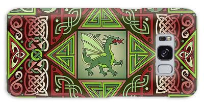 Celtic Dragon Labyrinth Galaxy Case