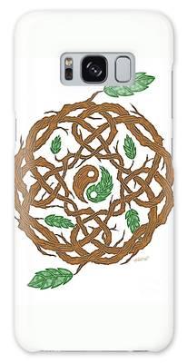 Celtic Nature Yin Yang Galaxy Case