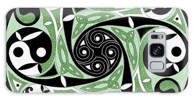 Celtic Spiral Stepping Stone Galaxy Case