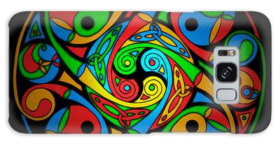 Celtic Stained Glass Spiral Galaxy Case