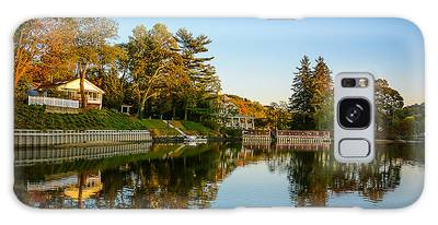 Centerport Harbor Autumn Colors Galaxy Case