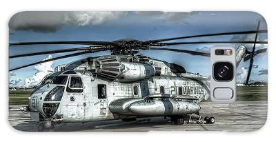 Galaxy Case featuring the photograph Ch-53 Super Stallion by Ryan Wyckoff