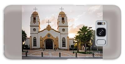 Church At Sunset Galaxy Case