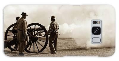 Civil War Era Cannon Firing  Galaxy Case