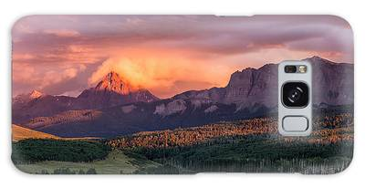 Clouds Over Sneffels At Sunset Galaxy Case