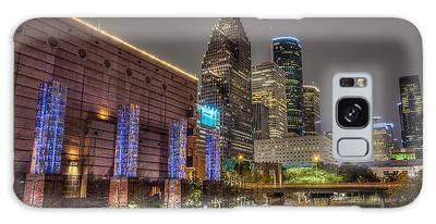 Cloudy Night In Houston Galaxy Case