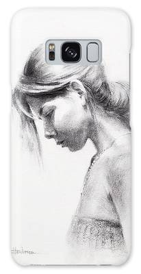 Female Model Drawings Galaxy Cases