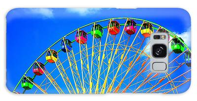 Galaxy Case featuring the photograph Colorful Ferris Wheel by Cynthia Guinn