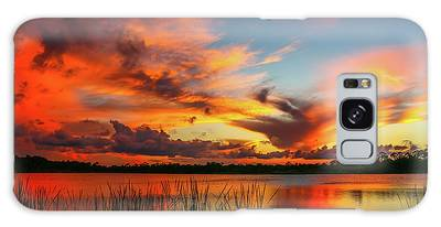Galaxy Case featuring the photograph Colorful Fort Pierce Sunset by Tom Claud