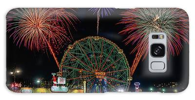 Coney Island At Night Fantasy Galaxy Case