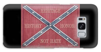 Confederate Flag On Wooden Door Galaxy Case