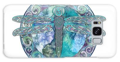 Cool Celtic Dragonfly Galaxy Case