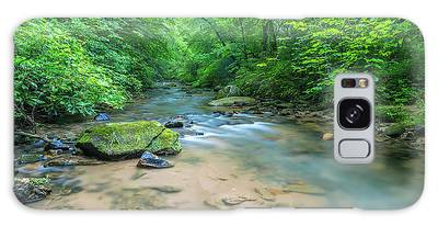 Galaxy Case featuring the photograph Cove Creek Panorama by Ranjay Mitra