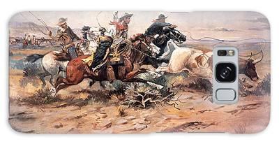 Designs Similar to Cowboys Roping A Steer