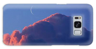Crescent Moon In The Pink Galaxy Case