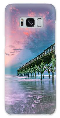 Galaxy Case featuring the photograph Crystal Beach Pier Sunset In North Carolina by Ranjay Mitra
