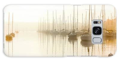 Dawn Reflections - Yachts At Anchor On The River Galaxy Case