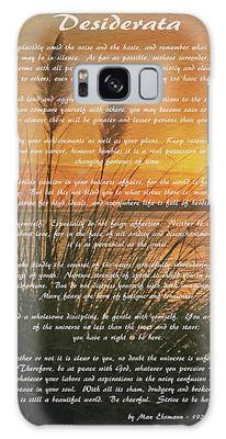Desiderata - Go Placidly Galaxy Case