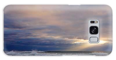 Dramatic Wave Sunrise Galaxy Case