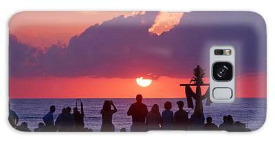 Easter Sunrise Beach Service Galaxy Case