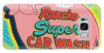 Car Wash Digital Art Galaxy Cases