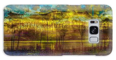 Galaxy Case featuring the digital art Enchanted Land by Visual Artist Frank Bonilla