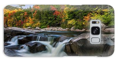 Galaxy Case featuring the photograph Fall Foliage Along Swift River In White Mountains New Hampshire  by Ranjay Mitra
