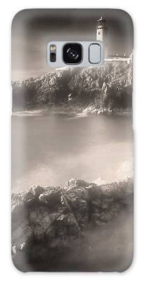 Fanad Lighthouse In The Mist Galaxy Case by Susan Maxwell Schmidt