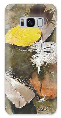 Feathers And Leaves Galaxy Case