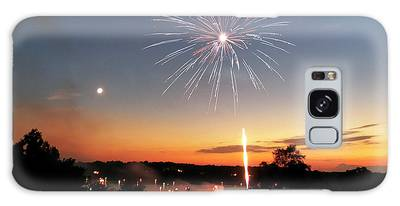 Fireworks And Sunset Galaxy Case