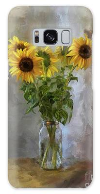 Five Sunflowers Centered Galaxy Case