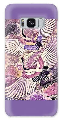 Galaxy Case featuring the tapestry - textile Flight Of Lovers - Kimono Series by Susan Maxwell Schmidt