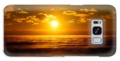 Foggy Gold Sunrise Galaxy Case